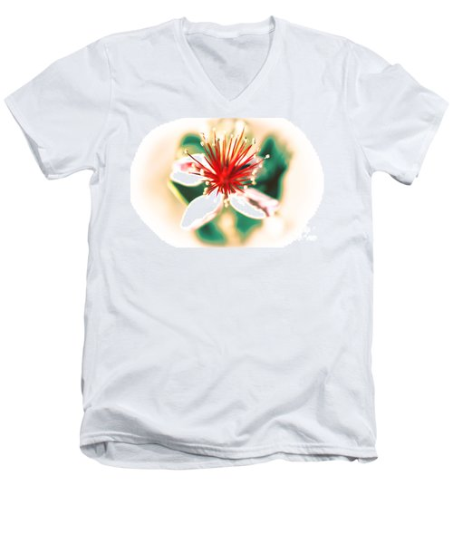 Men's V-Neck T-Shirt featuring the photograph Flower by Gunter Nezhoda