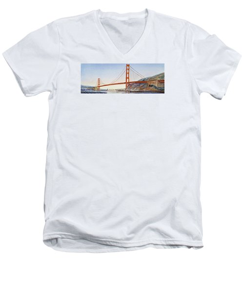 Golden Gate Bridge San Francisco Men's V-Neck T-Shirt