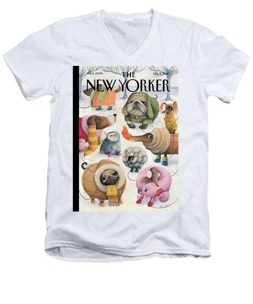 New Yorker February 8th, 2010 Men's V-Neck T-Shirt