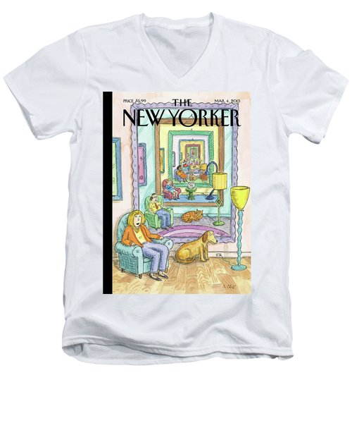 New Yorker March 4th, 2013 Men's V-Neck T-Shirt