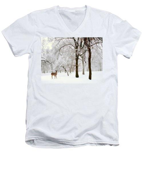 Winter's Breath Men's V-Neck T-Shirt