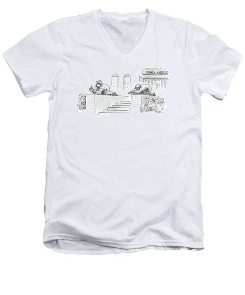 New Yorker February 13th, 2006 Men's V-Neck T-Shirt