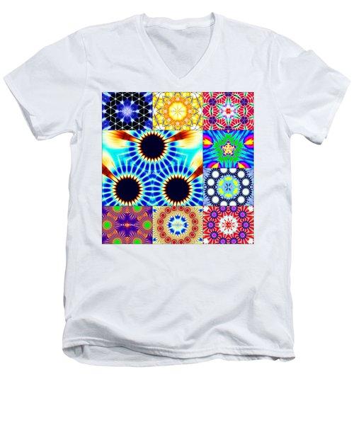 432hz Cymatics Grid Men's V-Neck T-Shirt