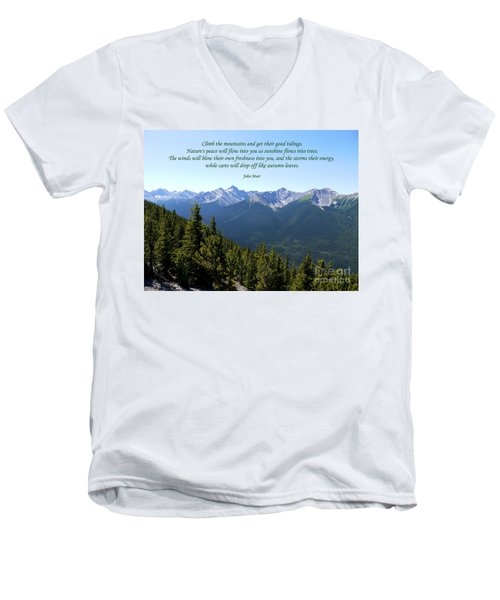 46- John Muir Men's V-Neck T-Shirt