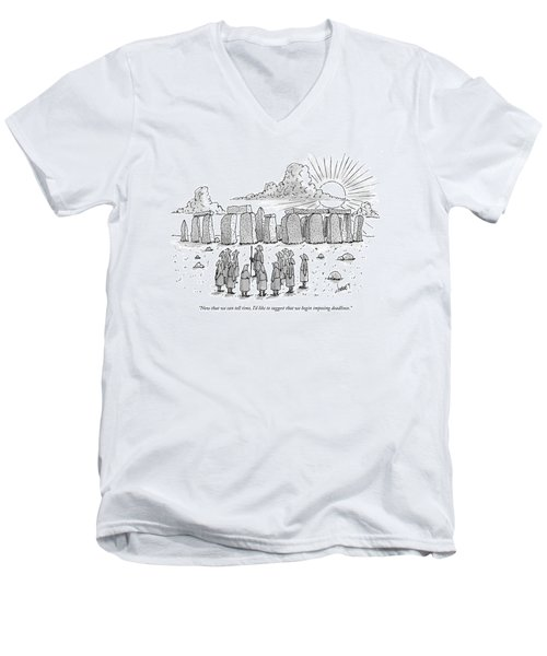 Now That We Can Tell Time Men's V-Neck T-Shirt