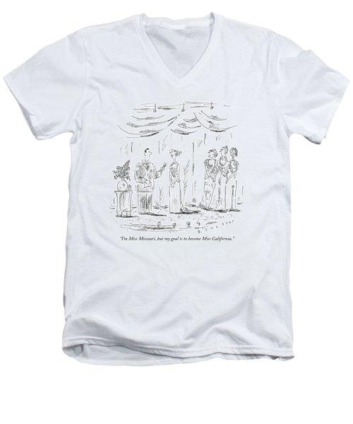 I'm Miss Missouri Men's V-Neck T-Shirt