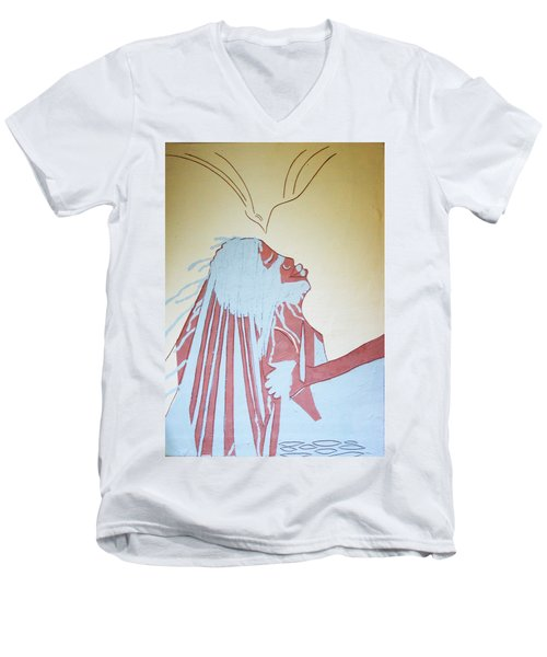Baptism Of The Lord Jesus Men's V-Neck T-Shirt