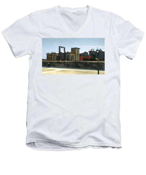 Manhattan Bridge Loop Men's V-Neck T-Shirt