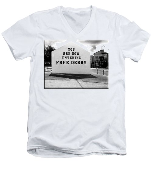 Free Derry Corner 5 Men's V-Neck T-Shirt