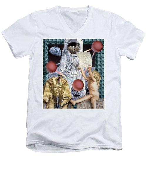 Instructions Men's V-Neck T-Shirt by Rich Milo