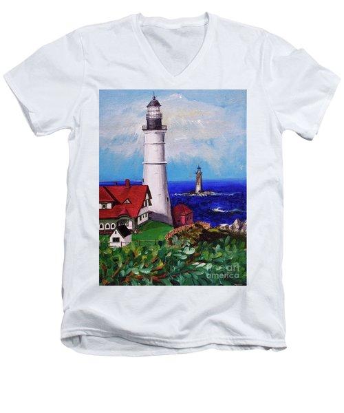 Lighthouse Hill Men's V-Neck T-Shirt