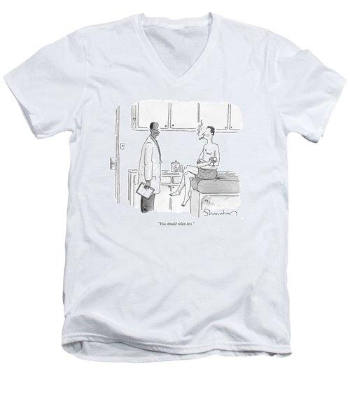 You Should Relax Less Men's V-Neck T-Shirt