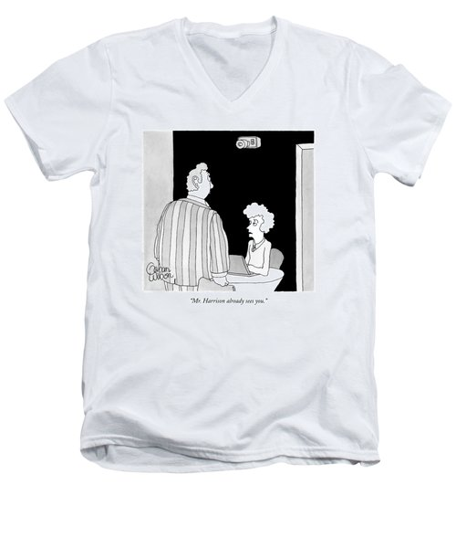 Mr. Harrison Already Sees You Men's V-Neck T-Shirt