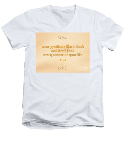 54- Rumi Men's V-Neck T-Shirt