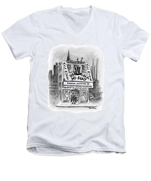 New Yorker November 21st, 2005 Men's V-Neck T-Shirt