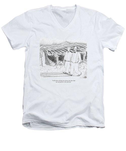 I Still Enjoy Running My Winery Men's V-Neck T-Shirt