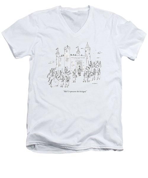 Me? I Represent The Besieged Men's V-Neck T-Shirt