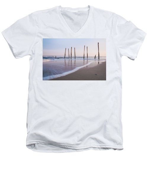 Men's V-Neck T-Shirt featuring the photograph 59th Street by Kristopher Schoenleber