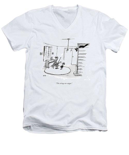 The Strings Are Catgut Men's V-Neck T-Shirt
