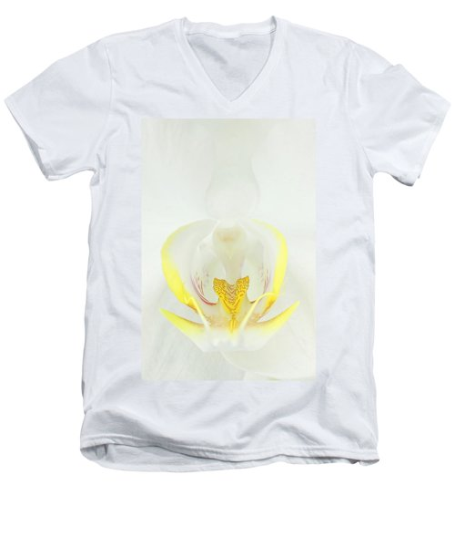 White Orchid-3 Men's V-Neck T-Shirt