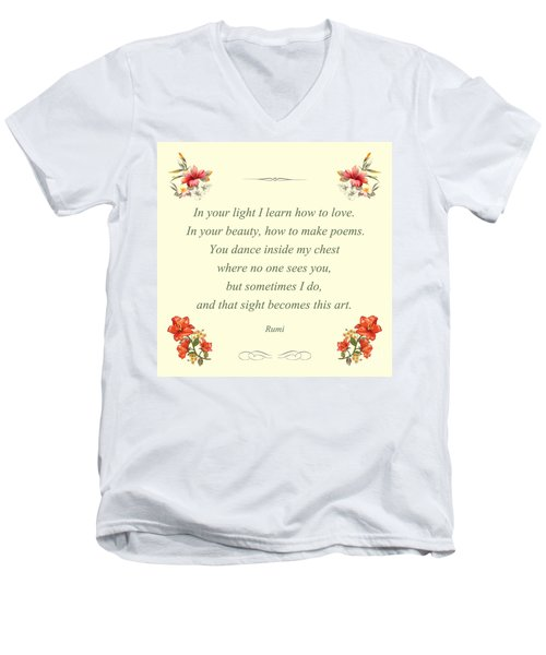 60- Rumi Men's V-Neck T-Shirt