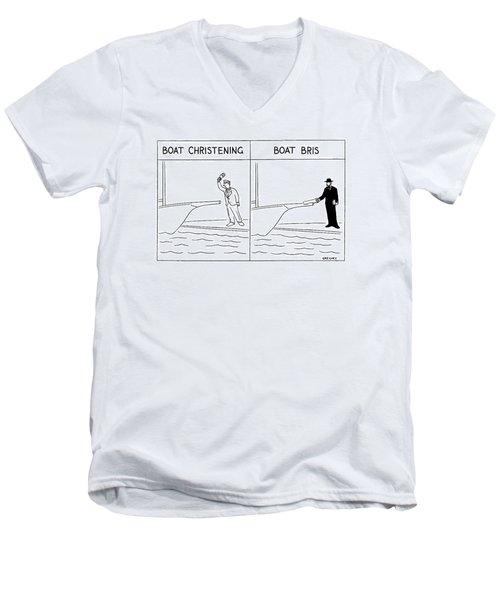 New Yorker January 17th, 2000 Men's V-Neck T-Shirt
