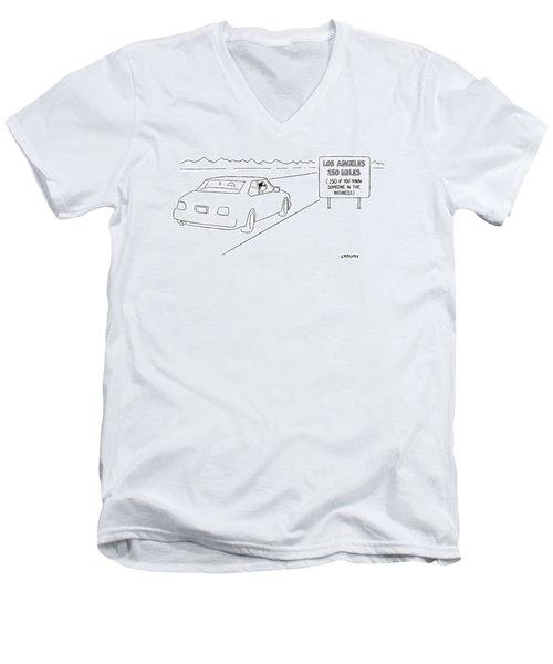 New Yorker February 21st, 2000 Men's V-Neck T-Shirt