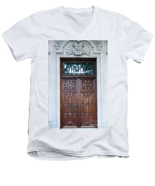 Distinctive Doors In Madrid Spain Men's V-Neck T-Shirt
