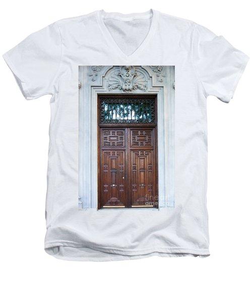 Distinctive Doors In Madrid Spain Men's V-Neck T-Shirt