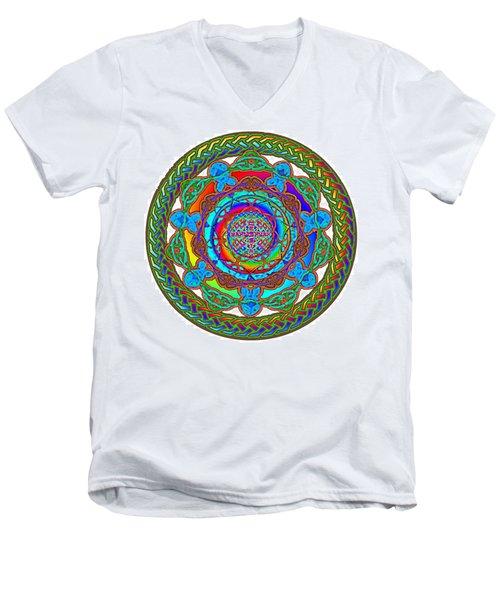 7 Fish Rainbow Yahushuah Messiah Men's V-Neck T-Shirt