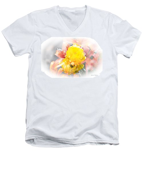 Flower Burst Men's V-Neck T-Shirt