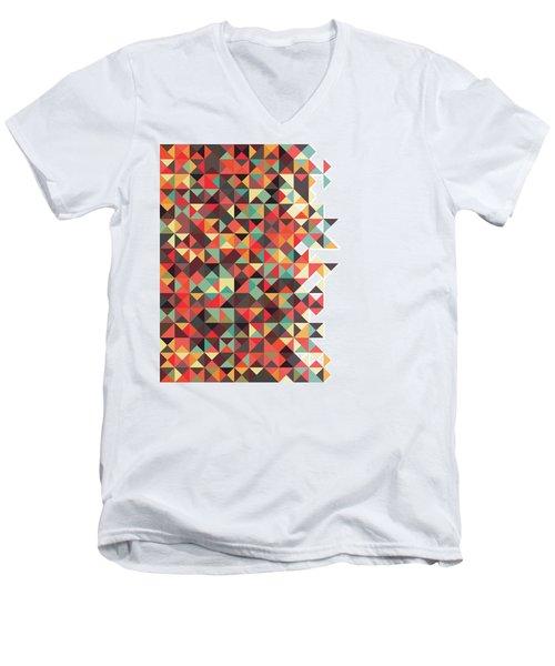 Geometric Art Men's V-Neck T-Shirt