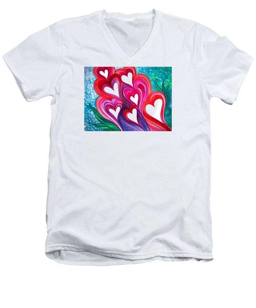 7 Hearts Men's V-Neck T-Shirt