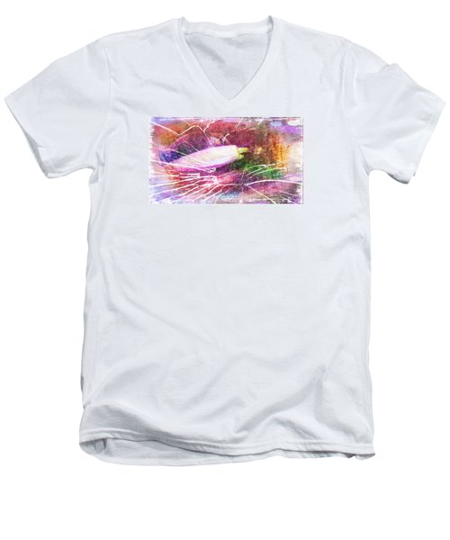 Orchid Buds In Abstract  Men's V-Neck T-Shirt
