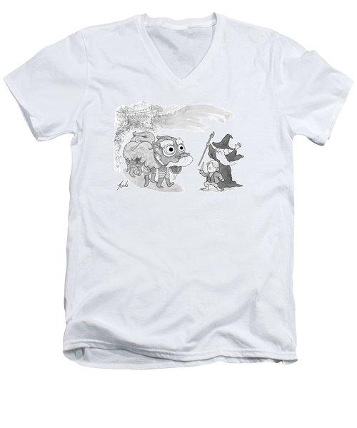 New Yorker January 31st, 2014 Men's V-Neck T-Shirt