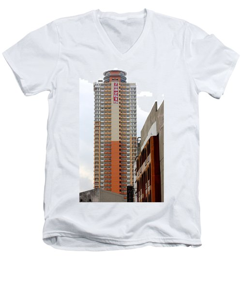 Men's V-Neck T-Shirt featuring the photograph 7082515 Building by Ester  Rogers