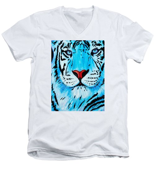 Blue Bengal Men's V-Neck T-Shirt