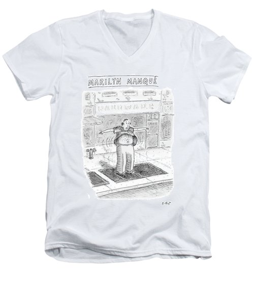 Marilyn Manque Men's V-Neck T-Shirt