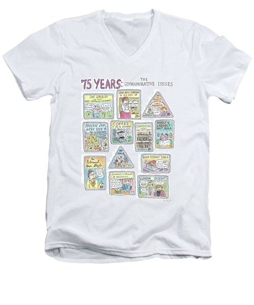 '75 Years:  The Commemorative Issues' Men's V-Neck T-Shirt