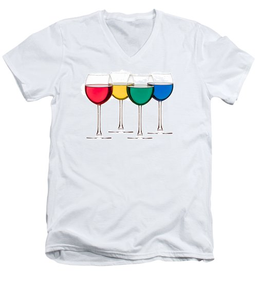 Colorful Drinks Men's V-Neck T-Shirt