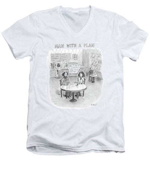 New Yorker April 9th, 2007 Men's V-Neck T-Shirt