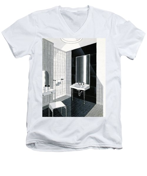 A Bathroom For Kohler By Ely Jaques Kahn Men's V-Neck T-Shirt