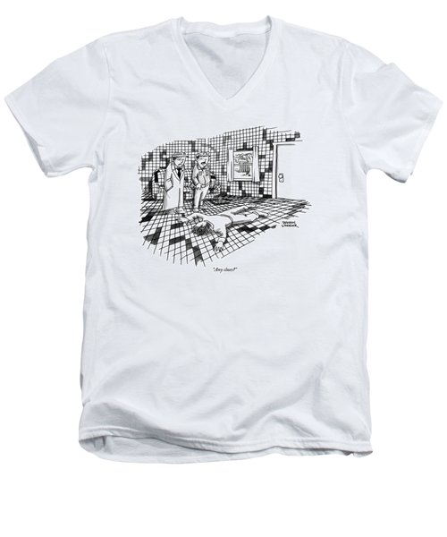 A Body Lies Face Down In A Room Where The Walls Men's V-Neck T-Shirt