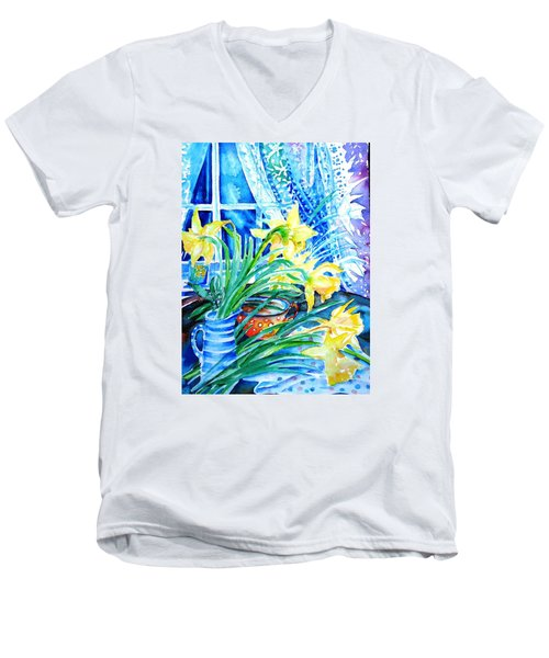 A Bouquet Of April Daffodils  Men's V-Neck T-Shirt by Trudi Doyle