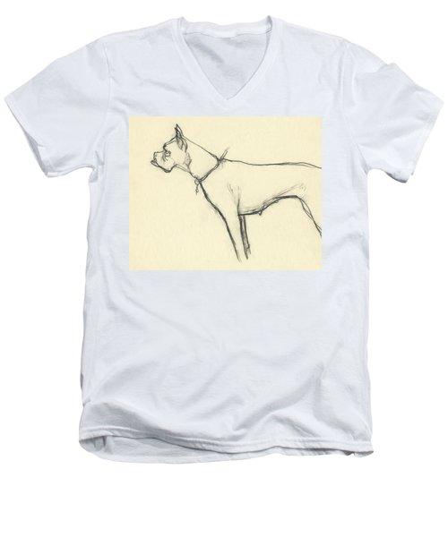 A Boxer Dog Men's V-Neck T-Shirt