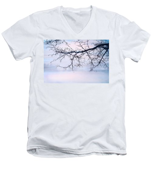 A Breathing Too Quiet To Hear Men's V-Neck T-Shirt by Theresa Tahara