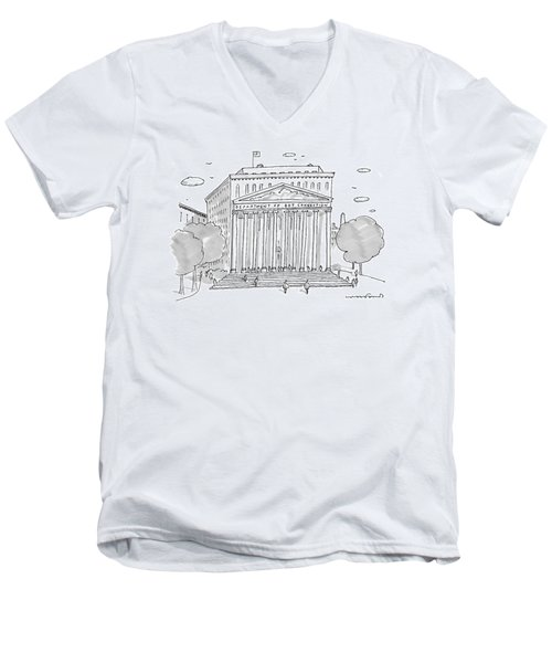 A Building In Washington Dc Is Shown Men's V-Neck T-Shirt