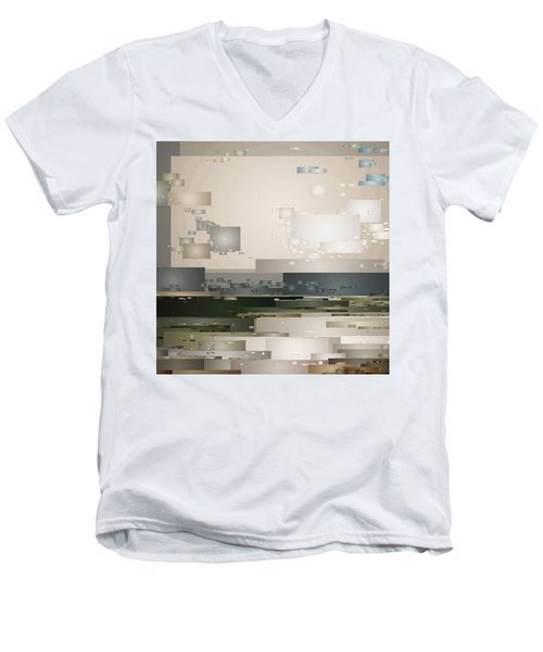 A Cloudy Day Men's V-Neck T-Shirt by David Hansen