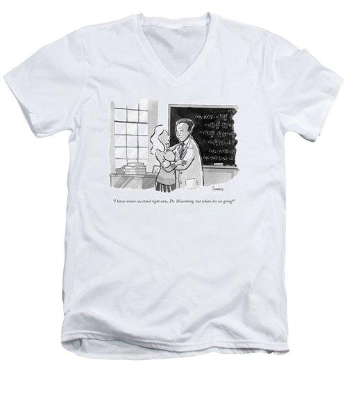 A Concerned Woman Embraces Dr. Heisenberg Men's V-Neck T-Shirt