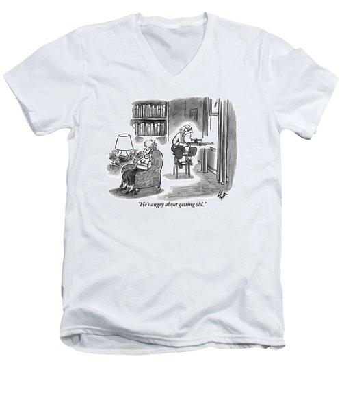 A Crabby-looking Men's V-Neck T-Shirt